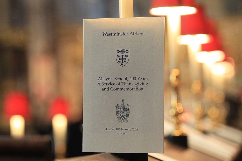 Westminster Abbey Order of Service