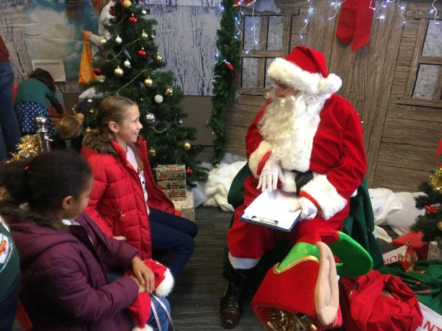 Santa visits our Holly Fair!