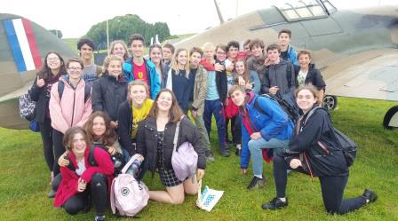 A group of pupils on the history trip to Chalke Valley