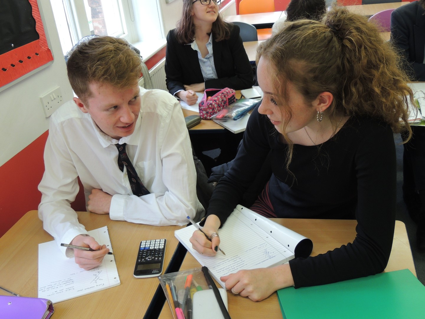 Students taking part in a Maths lesson at Alleyn's