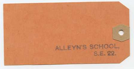 Alleyn's evacuation label