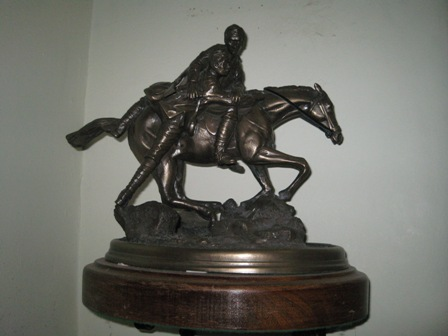 Equestrian Maquette of Group Captain FH Kirby VC CBE DCM