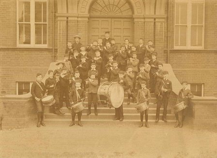 Photograph of the Fife and Drum Band, 1887