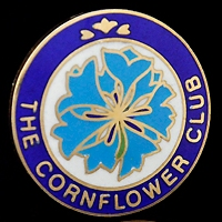 Cornflower Club Pin