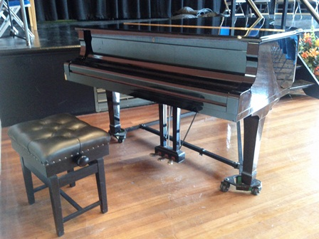 Grand piano in the Great Hall