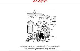 Alleyn's Matt cartoon