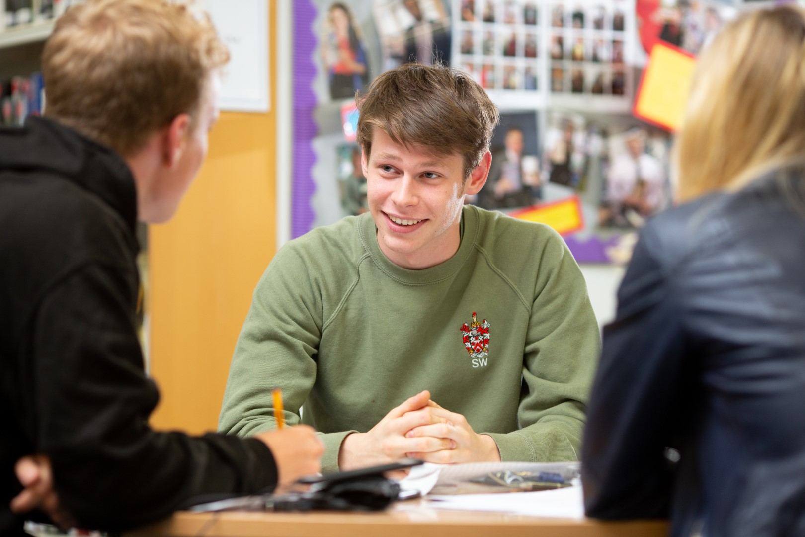Sixth Form students engage in discussion