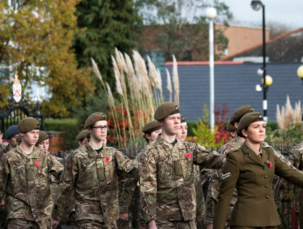 Alleyn's CCF march in the annual parade