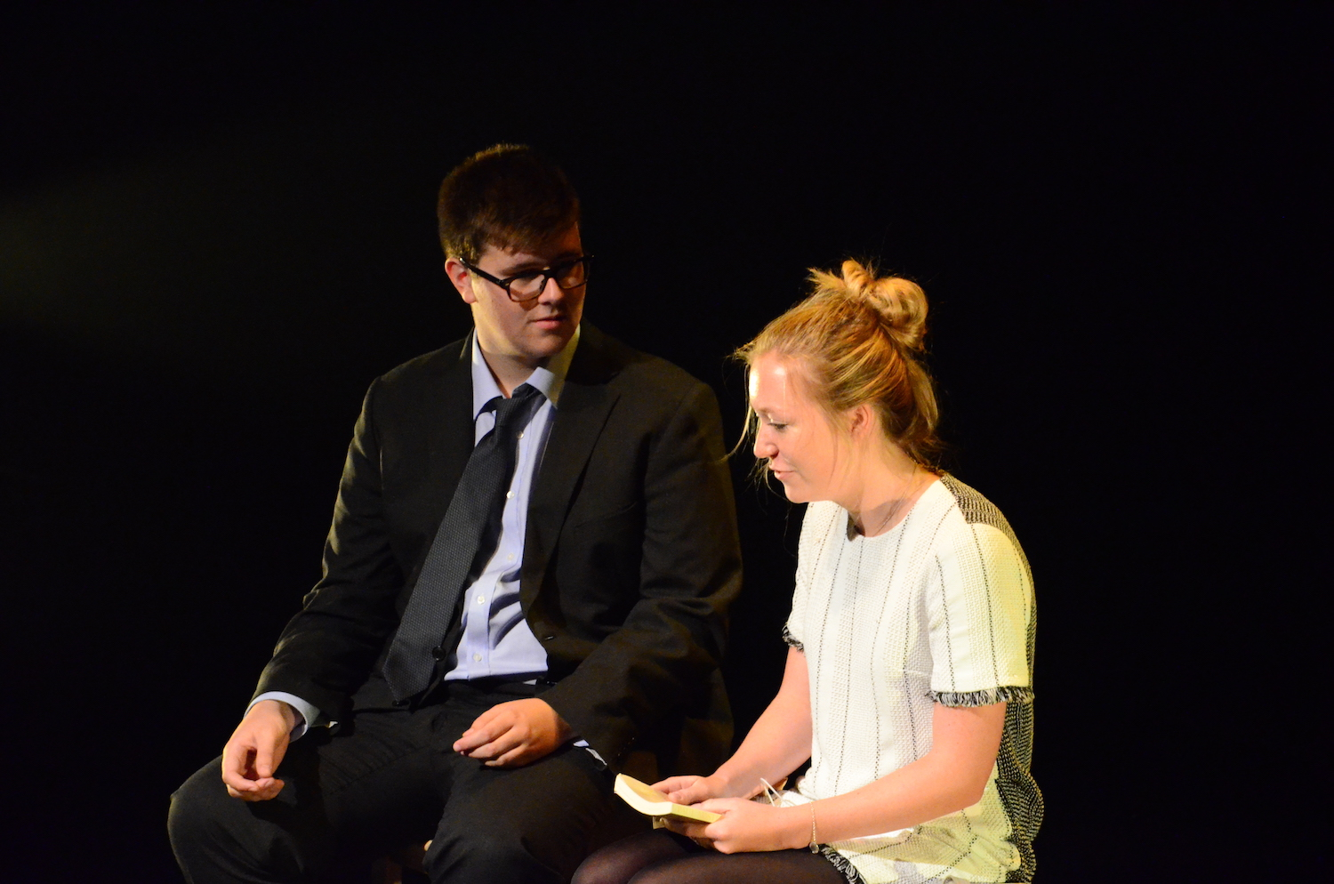 Alleyn's students on stage during a 2017 Edinburgh Fringe performance