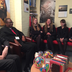 Alleyn's pupil meet with Zimbawean member of the clergy